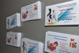 Полиграфический центр МедиаГрад, Визитки Айкидо и Игрушки