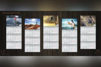 Полиграфический центр МедиаГрад, Календарь Квартальный часть 1 Дизайн Два медведя